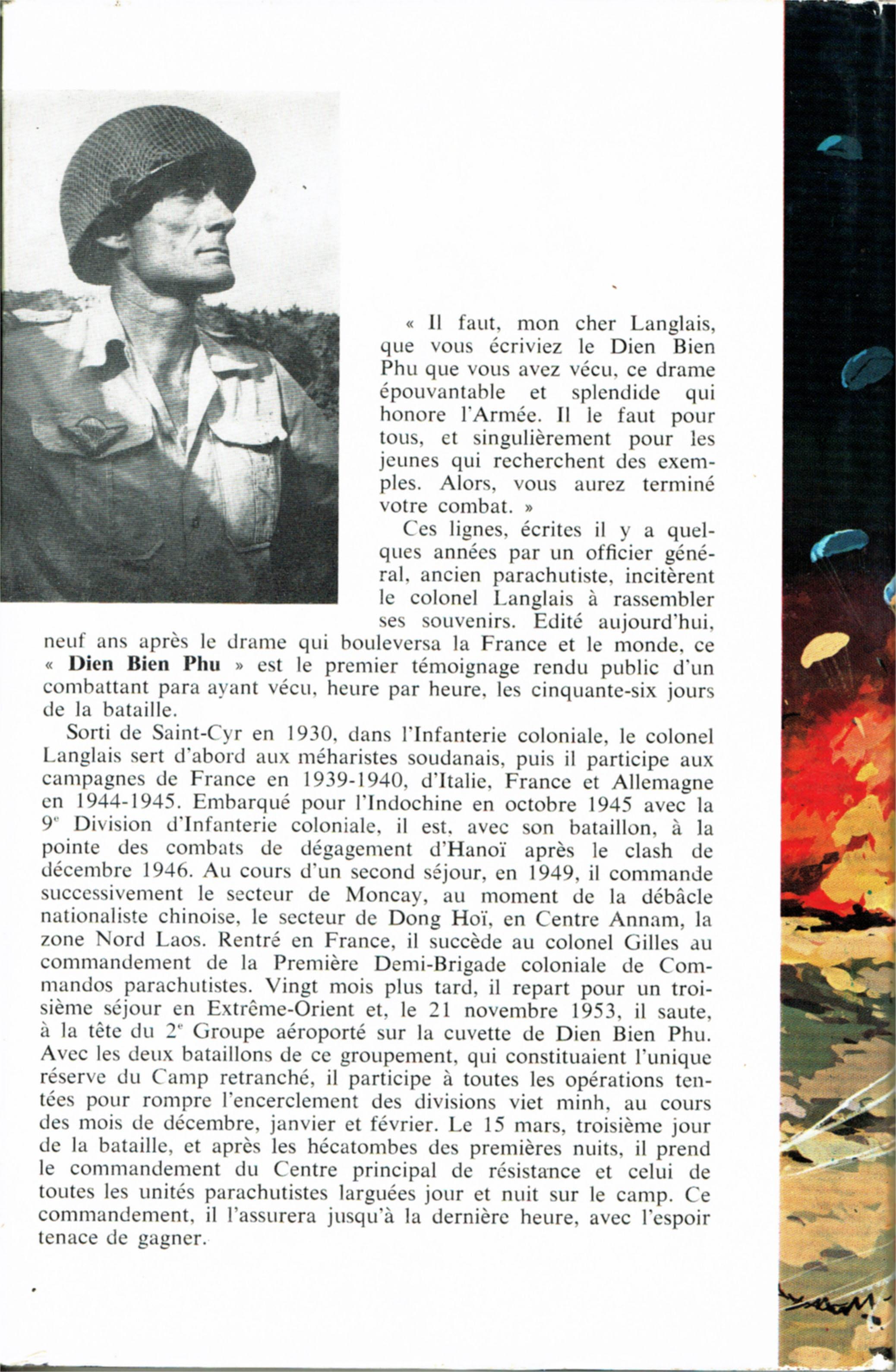 DIEN BIEN PHU par le colonel Pierre LANGLAIS Idln