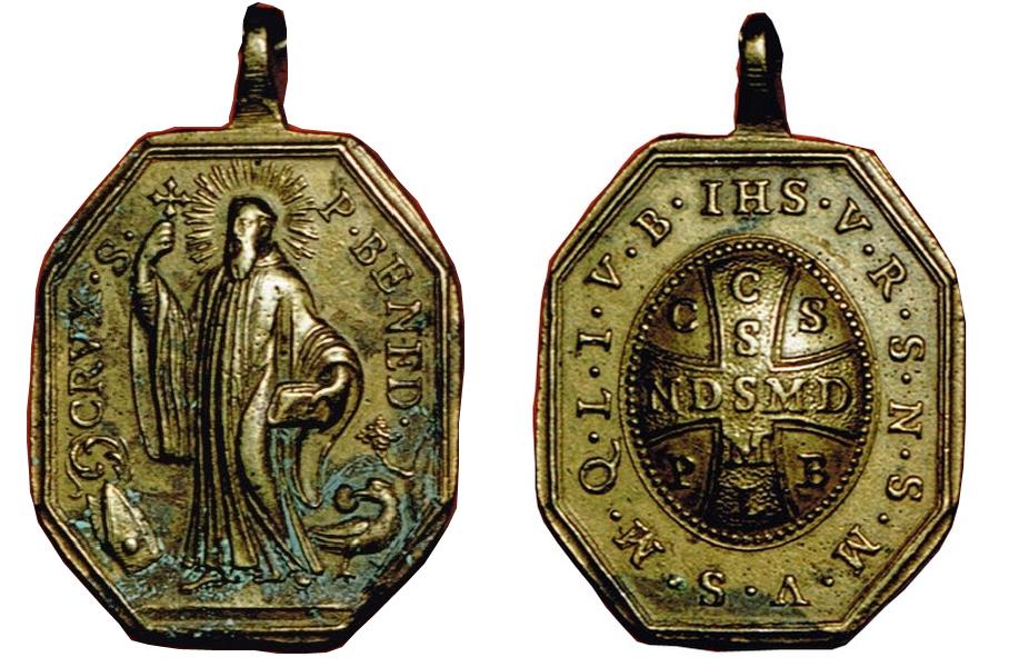 benito - Medalla San Benito / Cruz de San Benito S XVIII Sbsxviiianvyrev1