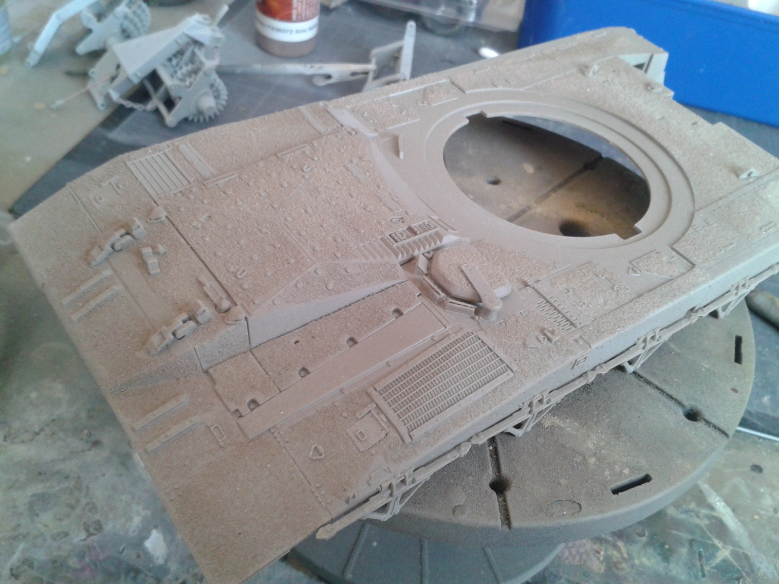 Merkava Mk.3 BAZ w/Nochri Dallet Mine Roller System Meng 1/35....Terminé !!!!! Mwa0