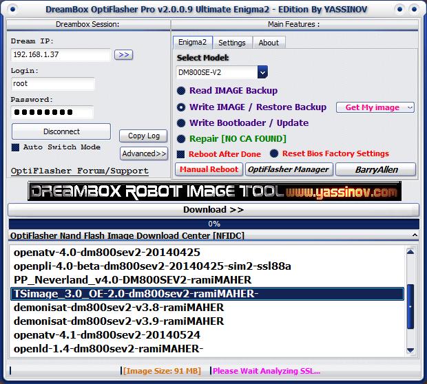 Dreambox OptiFlasher Enigma2 EDition Dskg