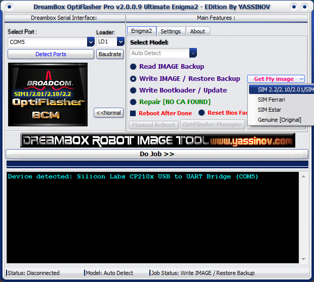 Dreambox OptiFlasher Enigma2 EDition Rovu