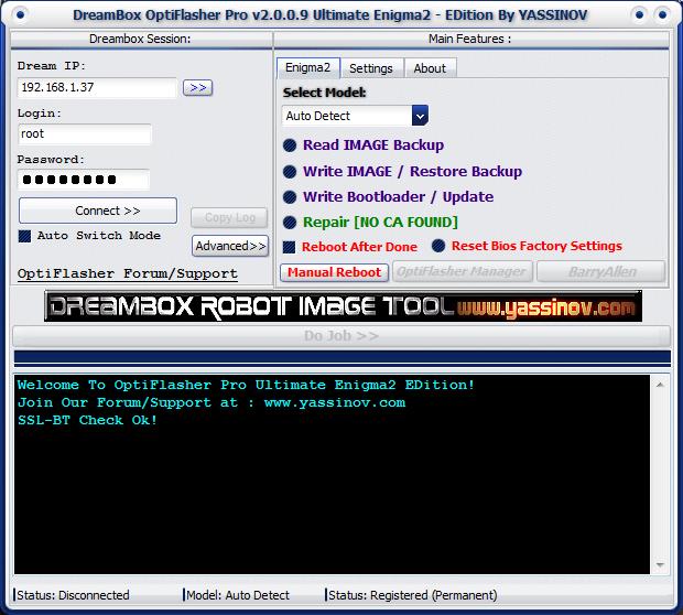 Dreambox OptiFlasher Enigma2 EDition Dgcr