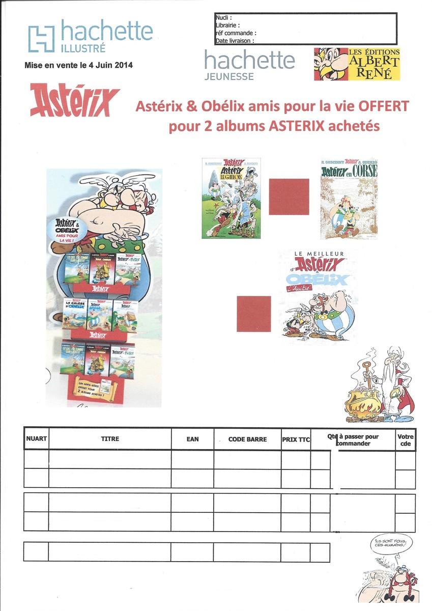 """Recevez """"LE MEILLEUR D'ASTERIX ET OBELIX : L'AMITIE"""" à l'achat de deux albums asterix (04/06/2014) Q4qge"""