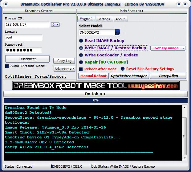 Dreambox OptiFlasher Enigma2 EDition Pdpv