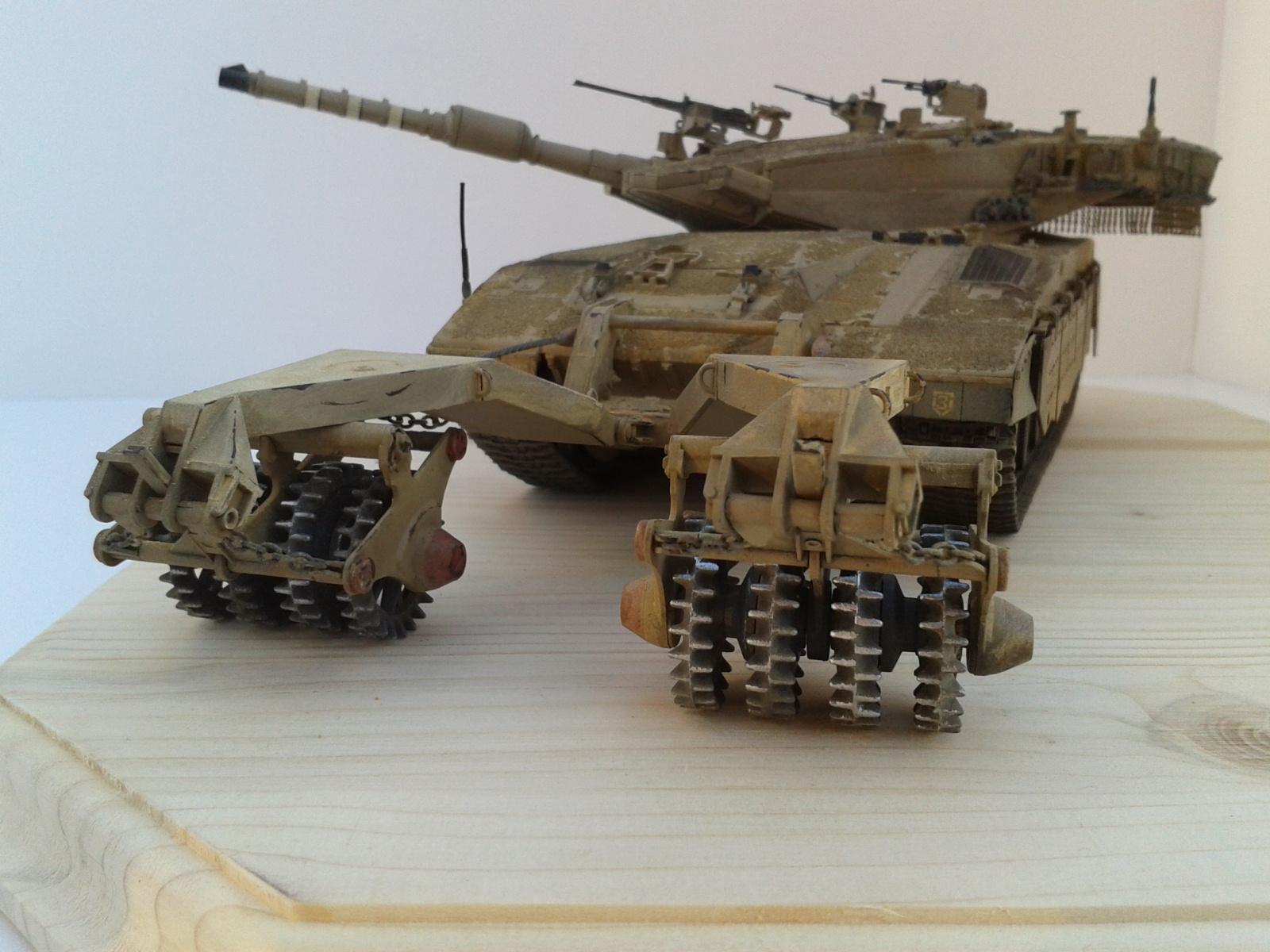 Merkava Mk.3 BAZ w/Nochri Dallet Mine Roller System Meng 1/35....Terminé !!!!! Yldg