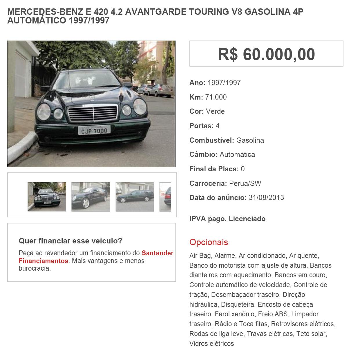 S210 E420 1997 - R$ 60.000,00 1vkm