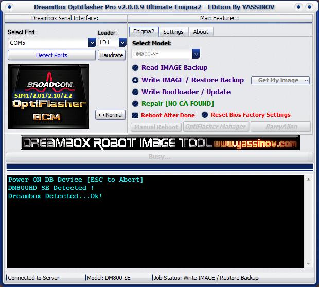 Dreambox OptiFlasher Enigma2 EDition Otgx