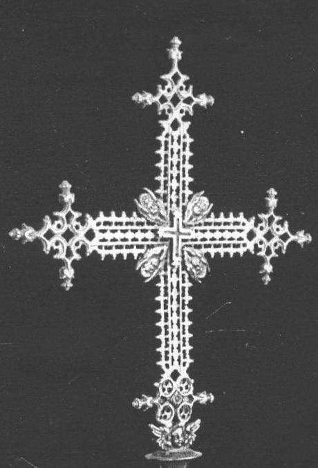 Cruz de filigrana con pezuelos S-XVII– CC(021) Calada2001