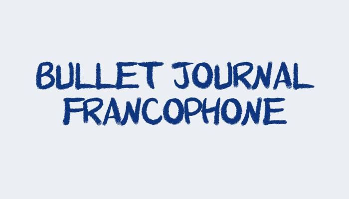 Bujo francophone