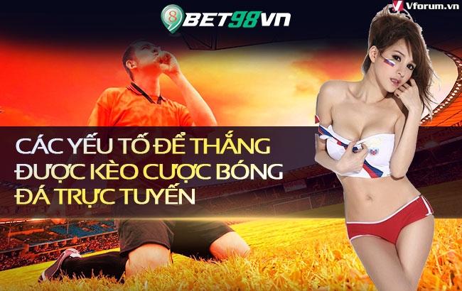 Các yếu tố để thắng được kèo cược bóng đá trực tuyến Hscn2H