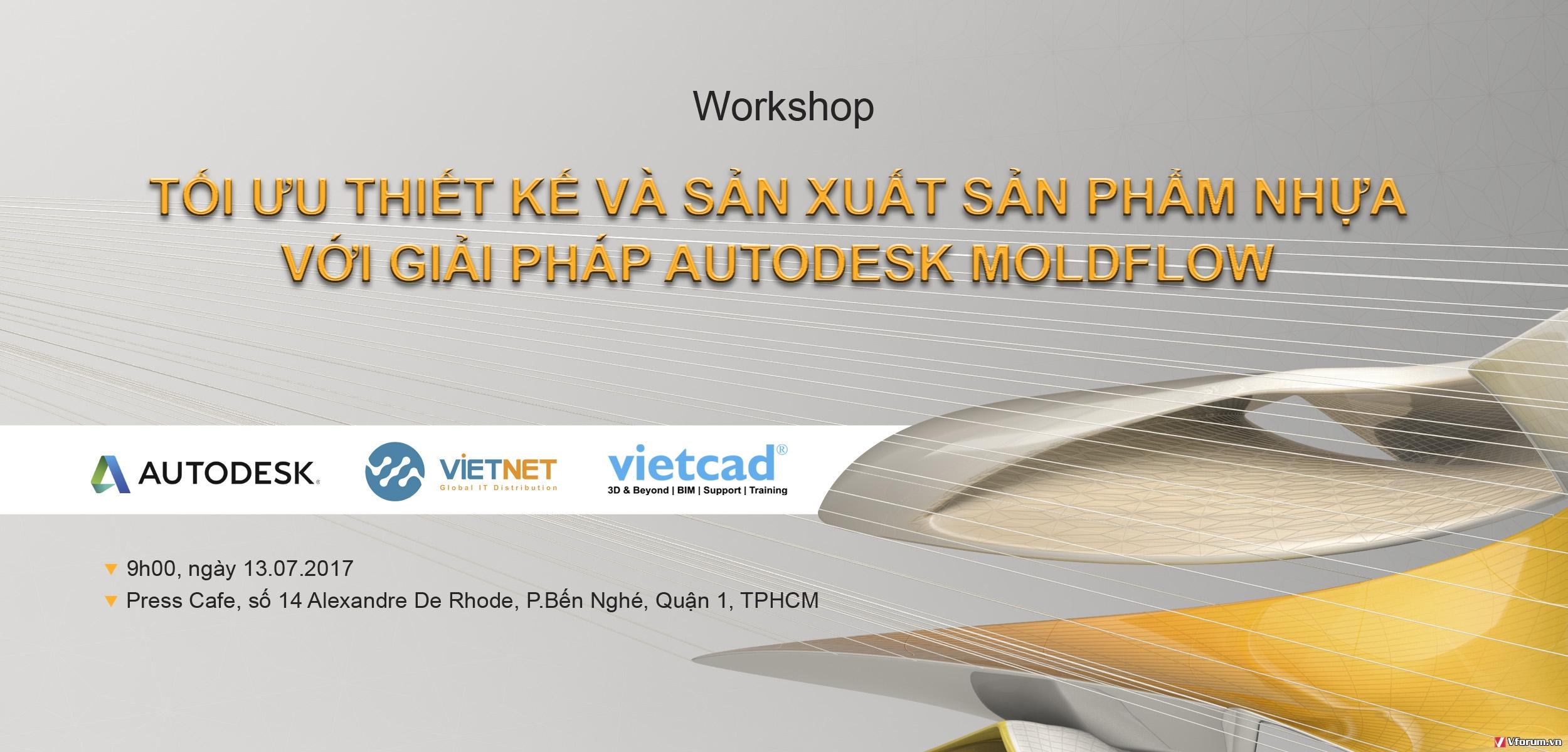 Workshop: Tối ưu thiết kế và sản xuất sản phẩm nhựa với giải pháp Autodesk Moldflow XH2DQW