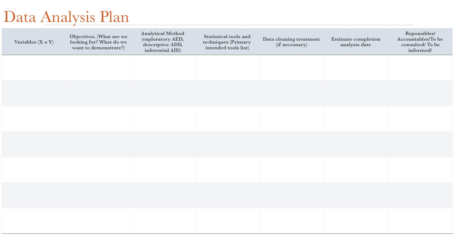 Data Analysis Plan (Plan de Analisis de Datos) ASRLLV