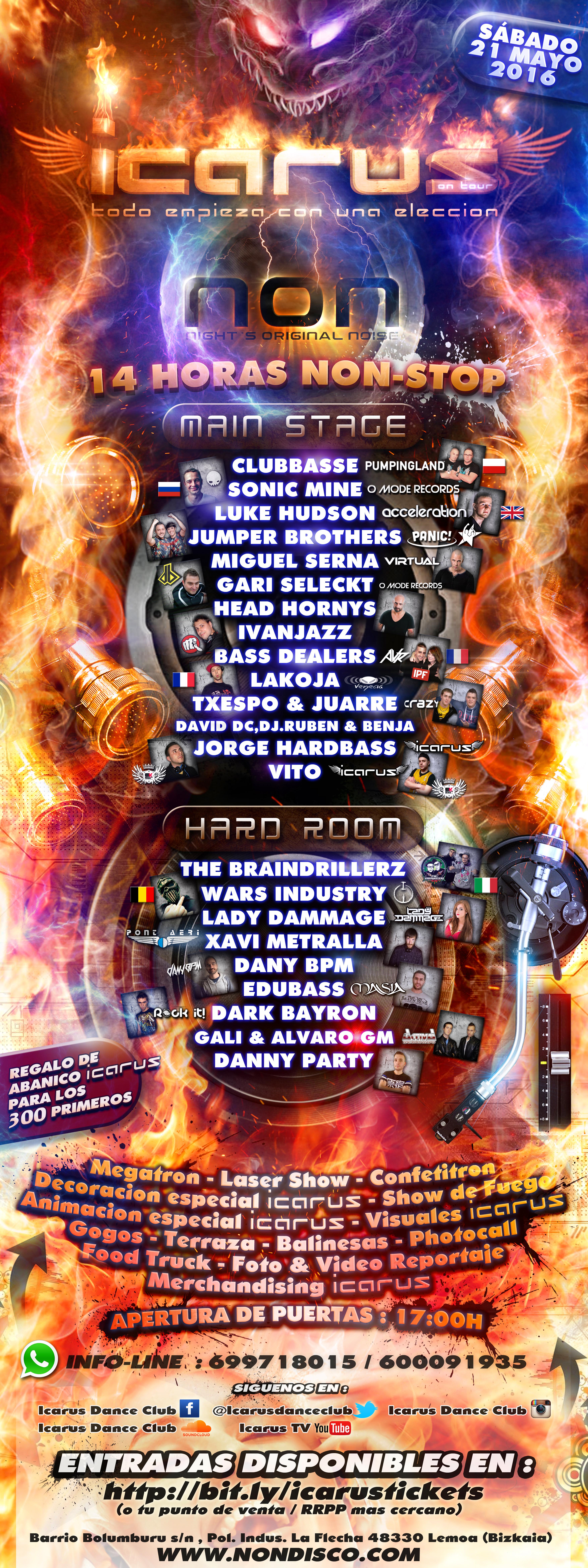 SÁBADO 21 DE MAYO 14 horas de Festival: ICARUS On Tour en Sala NON (Lemoa, Bizkaia) PgCPO8