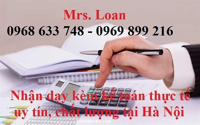 Lớp dạy kèm kế toán thực tế cô Loan 0968633748 IAX3lL