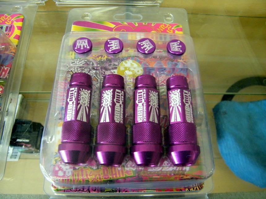 326 Power pyöränmutterit, violetit M12x1.5 YuxhNV