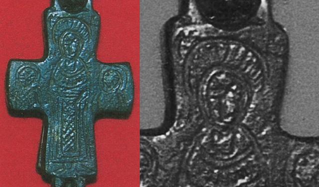 ENCOLPIO bizantino. S. X. ( F.S.V. CR-01) Reversocopy