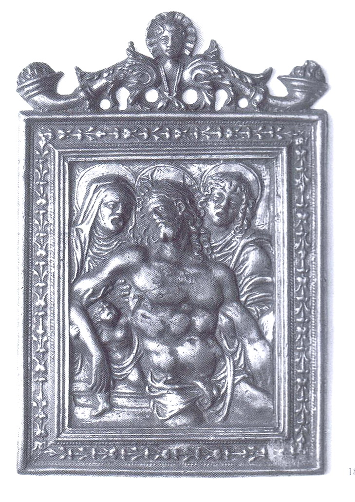Entierro de Cristo / Anunciación (R.M. SXVII-O302) Plaquetabargello