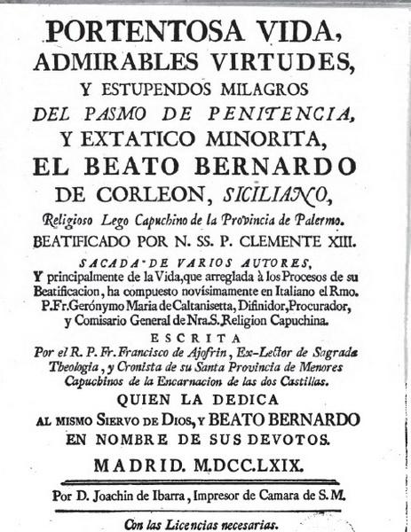 Beato Bernardo da Corleone/ San Francisco de Asis S.XVIII ( RFM SXVIII-O159) Clip6n