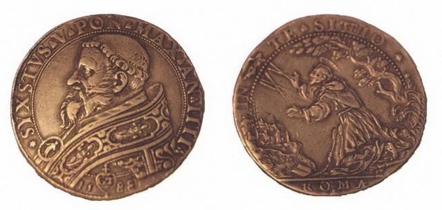 Medalla S. Francisco de Asís / Inmaculada S. XVII (R.M. Pe Francisco de Asis 8) P5q4