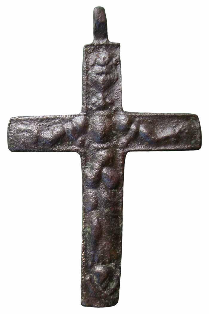 Crucifijo barroco bifaz, Inmaculada- S-XVIII - MR(023), CC-023 Cc023d