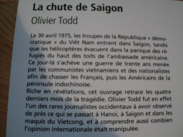 La chute de Saigon  par  Olivier Todd Dsc00478se