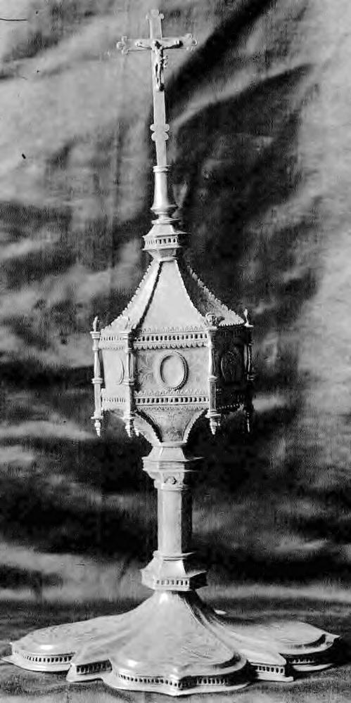 Crucifijo en plata de Nápoles XIX sec. Uibx