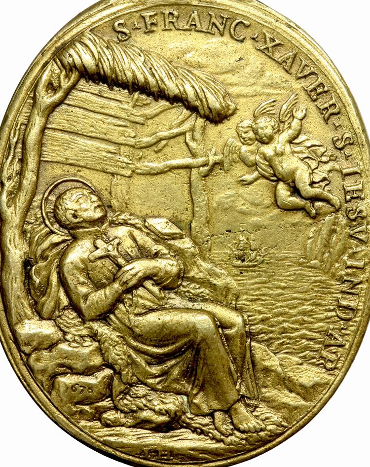 S. Romualdo / Muerte de S. Francisco Javier - Hamerani fechada (R.M. S.XVII-O191) F021bromualdofranciscoj
