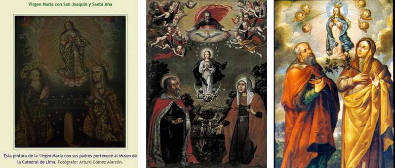 S. ANDRÉS AVELINO /  VIRGEN MARÍA, SANTA ANA Y SAN JOAQUÍN- S.XVII ( R.M. SXVII-P68) Americalatina