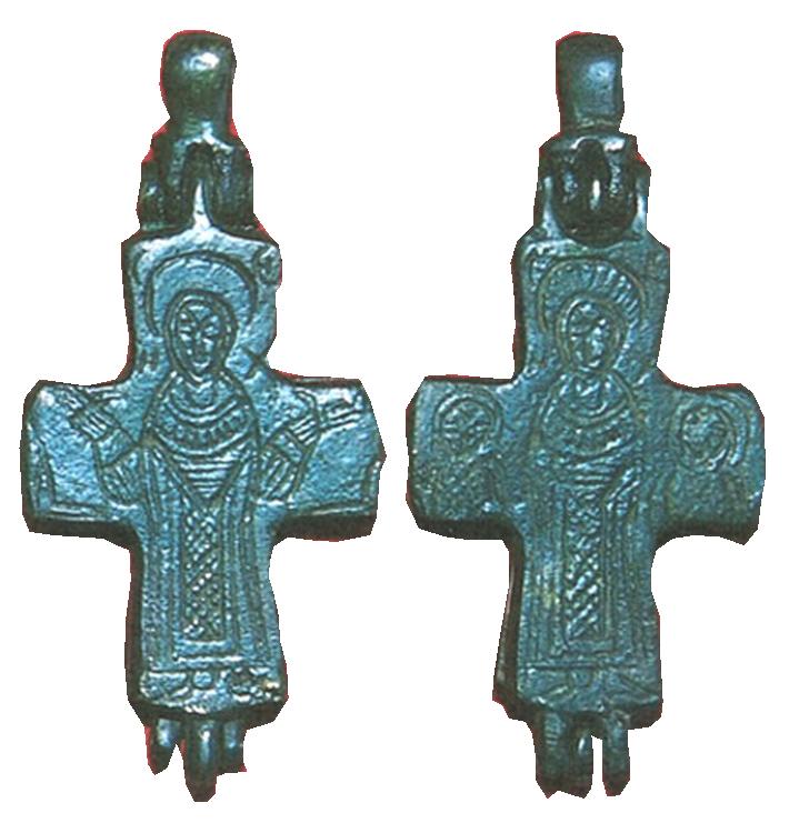 ENCOLPIO bizantino. S. X. ( F.S.V. CR-01) Crucesencolpio