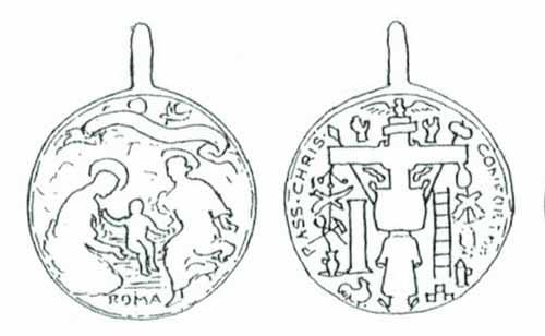 ICONOGRAFIA de la NATIVIDAD en las medallas devocionales Medalnativforrer2