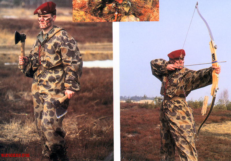 paratrooper garment camouflage build in parachute material Polish3