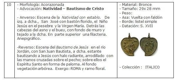 ICONOGRAFIA de la NATIVIDAD en las medallas devocionales Ficha10