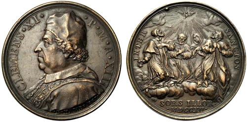 1712 - Medalla Salvator Mundi / Cuatro santos canonizados em 1712 - MR(335)(R.M. SXVIII-O195) Zq90