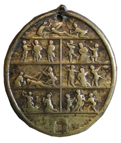 Crucifixión - Via Crucis. S. XVIII (R.M. SXVIII-O225 y 226) Fgtc