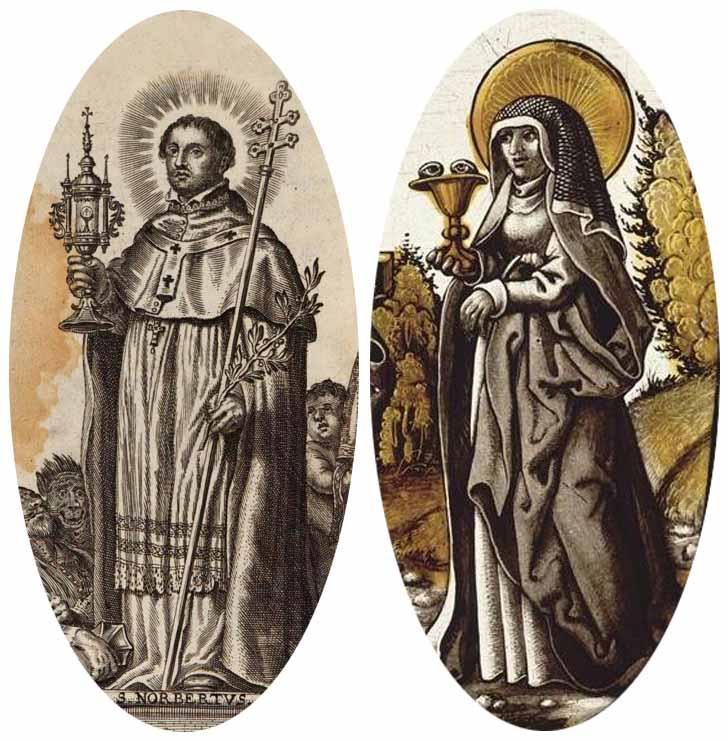 norberto - San Norberto / Santa Odilia- S.XVII (RM.SXVII-O185) - MR(220) Mr220b