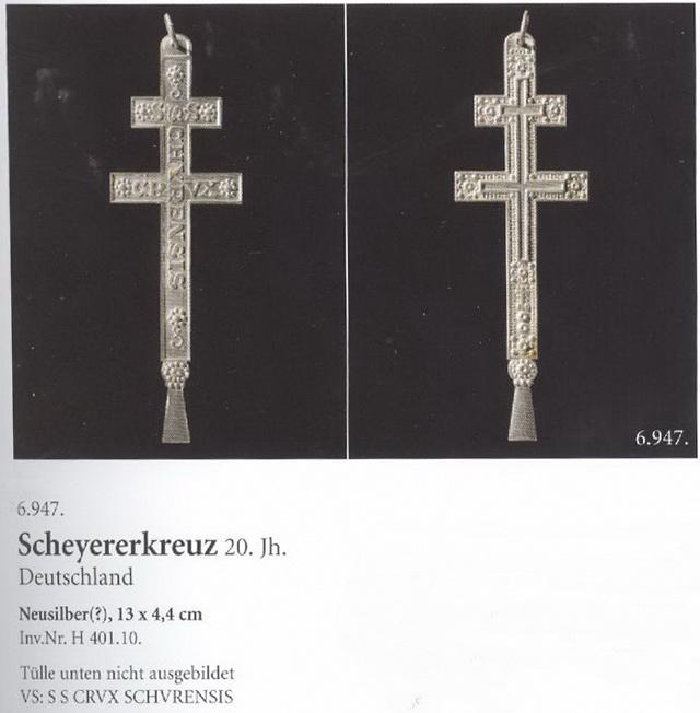SCHEYERER KREUZ (Kloster Scheyern, Baviera) S. SIX 79yy