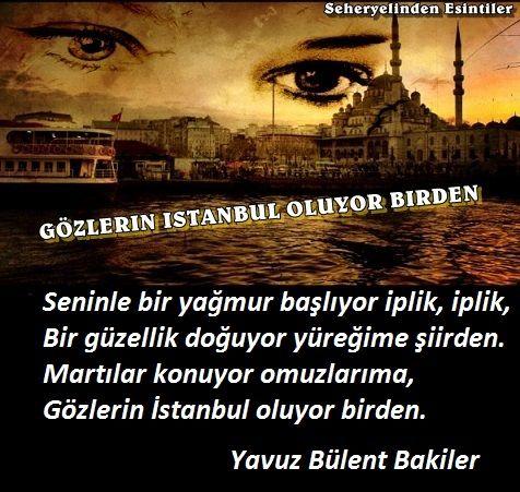 Gözlerin İstanbul Oluyor Birden / Yavuz Bülent Bakiler 0f18