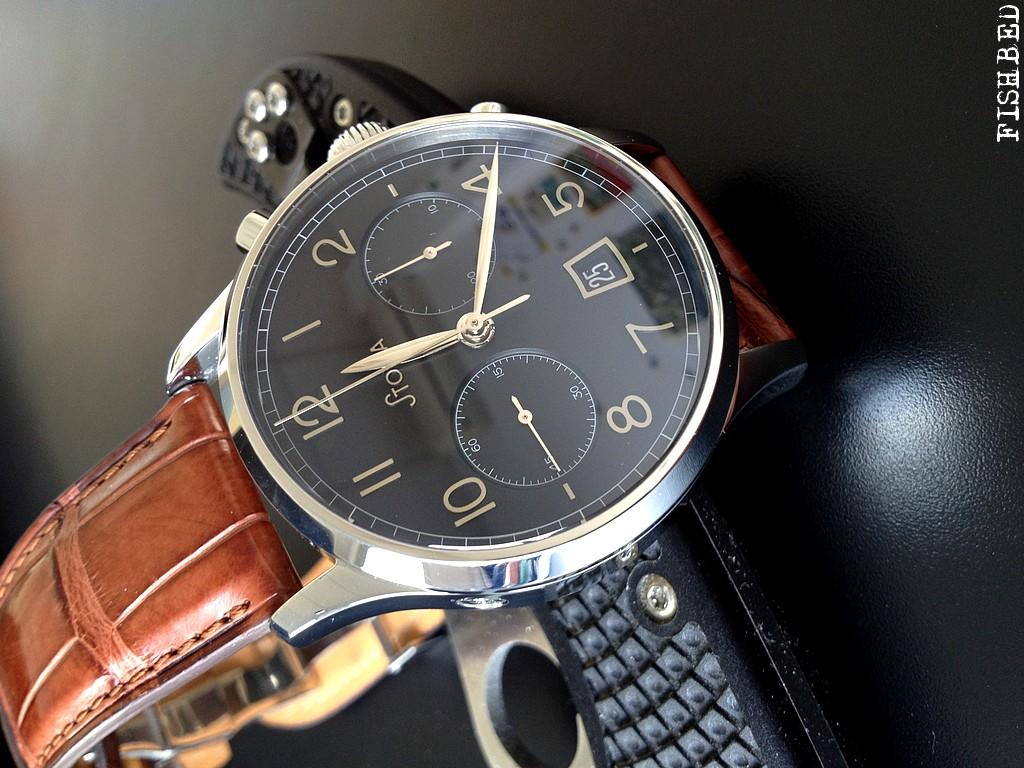 stowa - Stowa chronographe Stowablackchrono193805