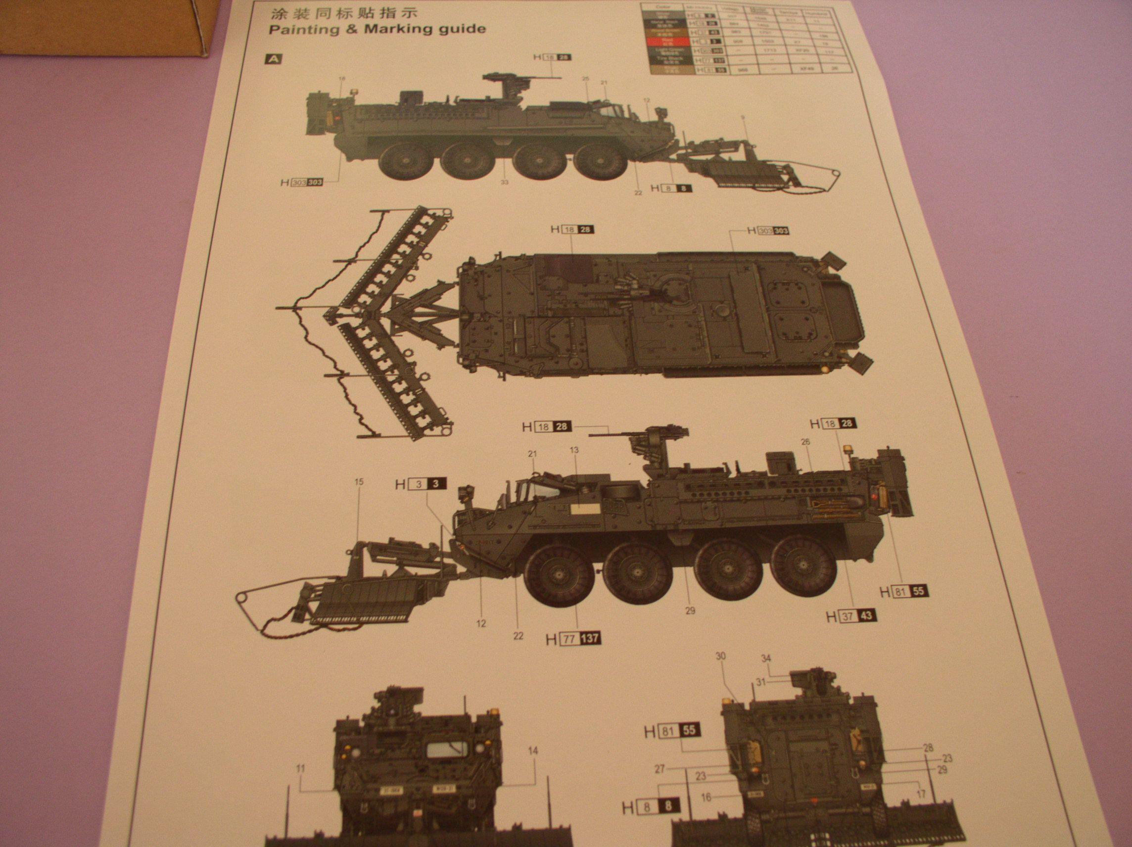 Review Kit Stryker 1132 ESV Trumpeter 1/35 90771897