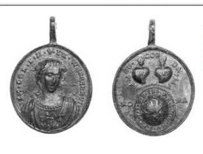 Imagen milagrosa de  Wessobrun / SS.  Corazones de Jesús y María  S.XVIII ( R.M. SXVIII-C43) Fig1oz
