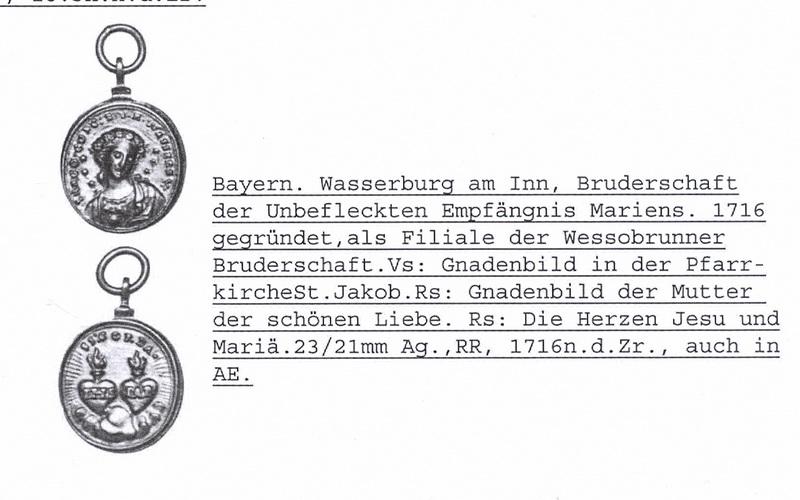 Imagen milagrosa de  Wessobrun / SS.  Corazones de Jesús y María  S.XVIII ( R.M. SXVIII-C43) Wessobrunner