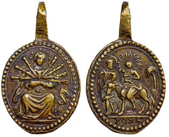 ICONOGRAFIA de la NATIVIDAD en las medallas devocionales B131dvirgendolorosahuid