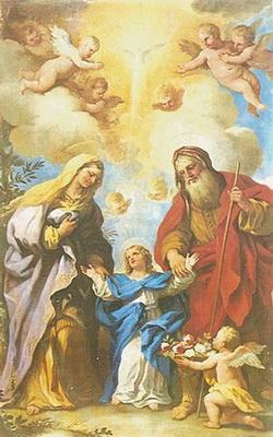 S. ANDRÉS AVELINO /  VIRGEN MARÍA, SANTA ANA Y SAN JOAQUÍN- S.XVII ( R.M. SXVII-P68) 300pxlucagiordanocuella