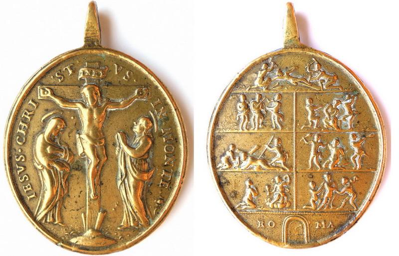 Crucifixión - Via Crucis. S. XVIII (R.M. SXVIII-O225 y 226) Hfy4