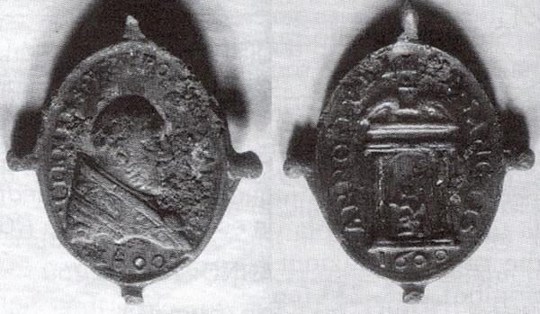 Medalla Madonna de Provenzano / Puerta Santa-Jubileo (R.M. Provenzano 2) Clemensviiicisterino160