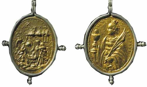 ICONOGRAFIA de la NATIVIDAD en las medallas devocionales Nativitabarbara