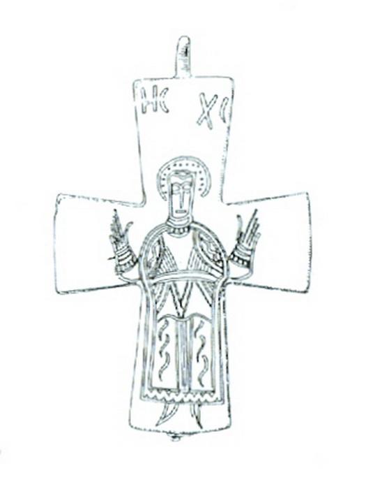 ENCOLPIO bizantino. S. X. ( F.S.V. CR-01) Encolpiocristo