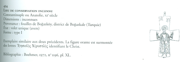 ENCOLPIO bizantino. S. X. ( F.S.V. CR-01) Cristow