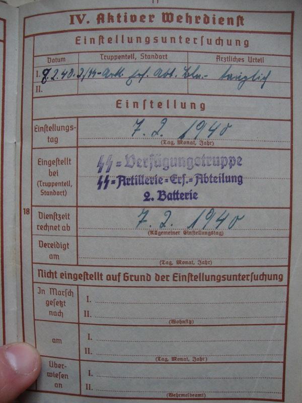 Vos livrets militaires allemands WWII (Soldbuch, Wehrpass..) / Heer-LW-KM-SS... Pt6f