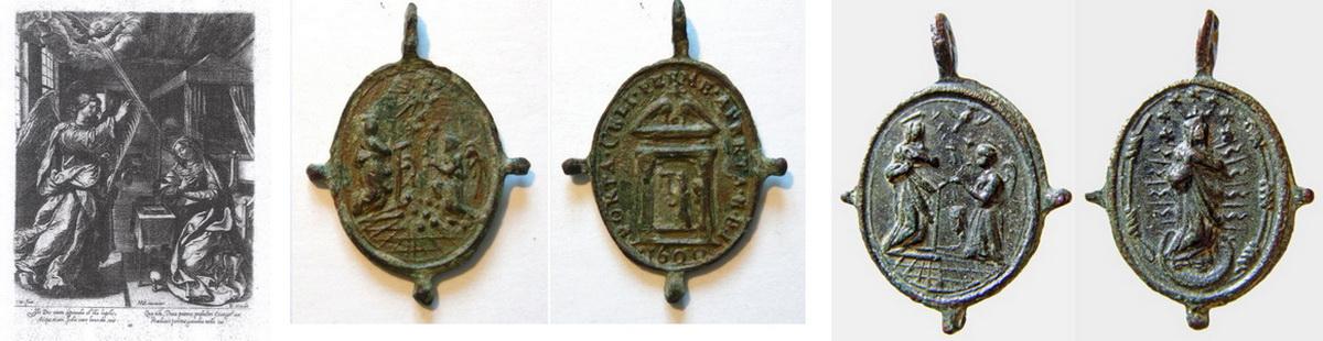 Inmaculada / Anunciacion a María S-XVII Pezueladas